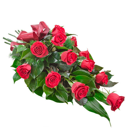 Arrangement of red roses