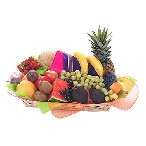 Large basket of seasonal fruit