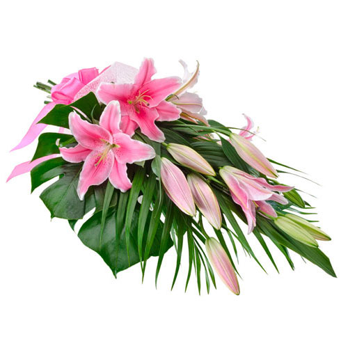 A bouquet of oriental lilies