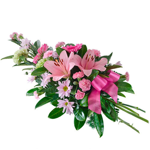 Spray of pink flowers suitable for service